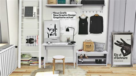 Sims 3 Foyer Ideas by My Sims 4 Ikea Office Set Tjusig Hallway Set And Dc