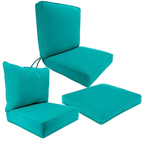 Outdoor Cushions Outdoor Seat Cushion Collection In Sunbrella 174 Canvas Aruba