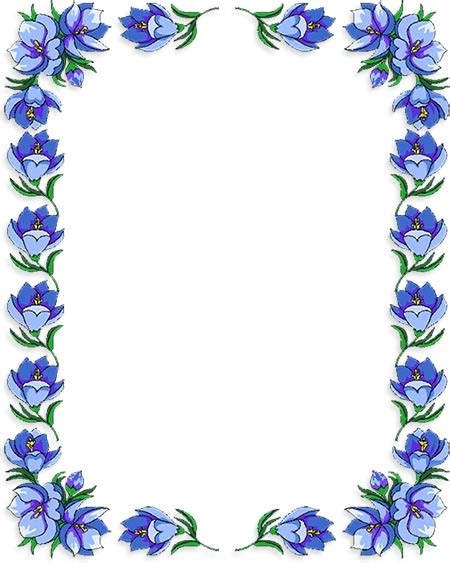 printable borders with flowers frame clipart flower pencil and in color frame clipart