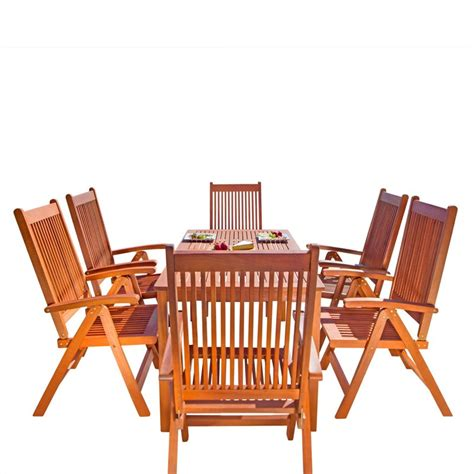 Wooden Patio Dining Sets 5 Wood Patio Dining Set V98set20