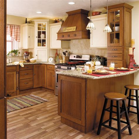 starmark kitchen cabinets starmark cabinetry two tone kitchen in quarter sawn oak