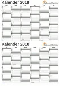 Kalender 2018 Zum Ausdrucken Wochen Kalender 2018 Zum Ausdrucken Kostenlos
