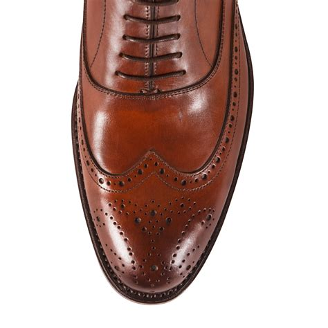 Handmade Brogues Uk - handmade brogues wingtip oxford chestnut uk 6 5