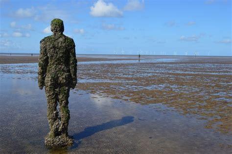 antony gormleys sculptures at crosby visitengland antony gormley s another place sculpture writing