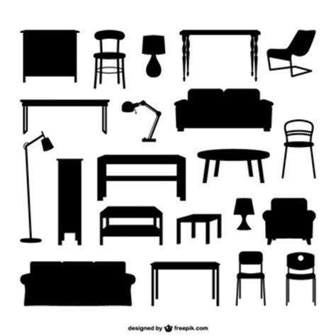 vectores de siluetas completamente gratis recursos photoshop siluetas de muebles fotos y vectores gratis