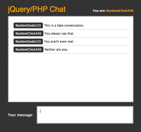 php tutorial live chat building a jquery php powered chat room css tricks