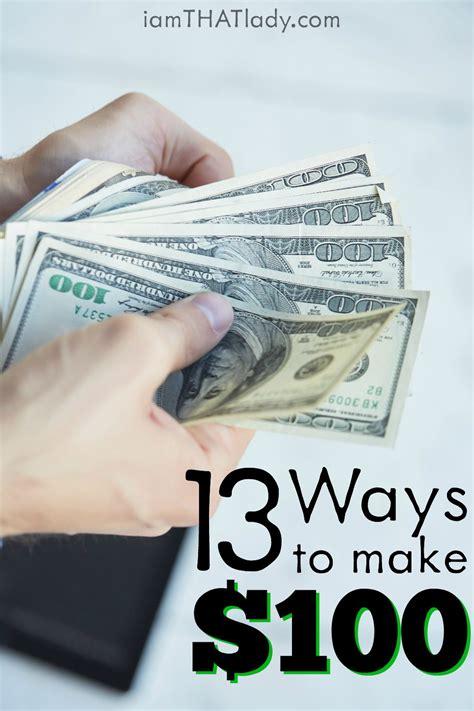 Best Way To Make Extra Money Online - ways to make extra money 13 ways to make an easy 100