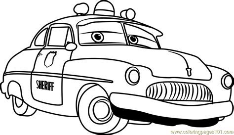Disney Cars 3 Sheriff sheriff from cars 3 coloring page free cars 3 coloring