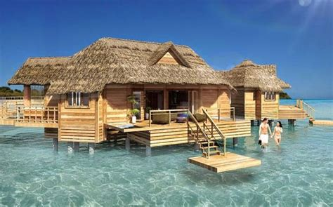these over the water bungalows are coming to the caribbean over the water bungalow soon to be built off the private
