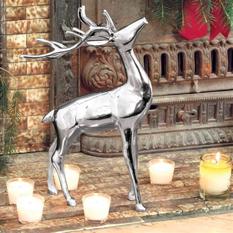 noble silver reindeer all gifts olive cocoa