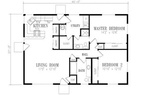 2 bedroom 2 bathroom house plans 2 bedroom 1 bath ranch floor plans