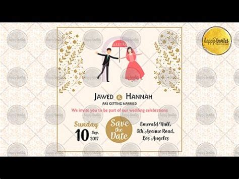 Animated Invitation Cards Templates by Save The Date Invitation Wedding Marriage