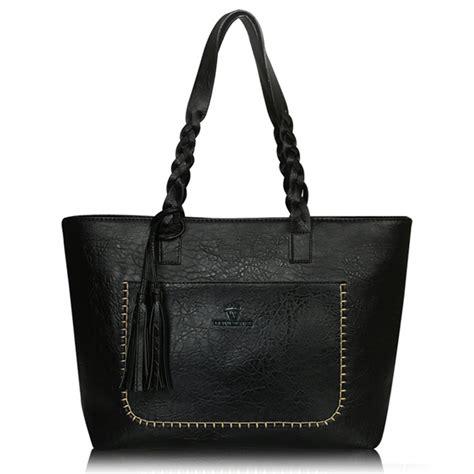 Tas Wanita Big Bag tas selempang wanita tassel tas selempang wanita black