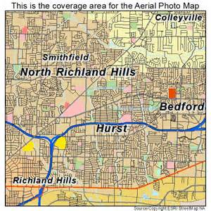 aerial photography map of hurst tx