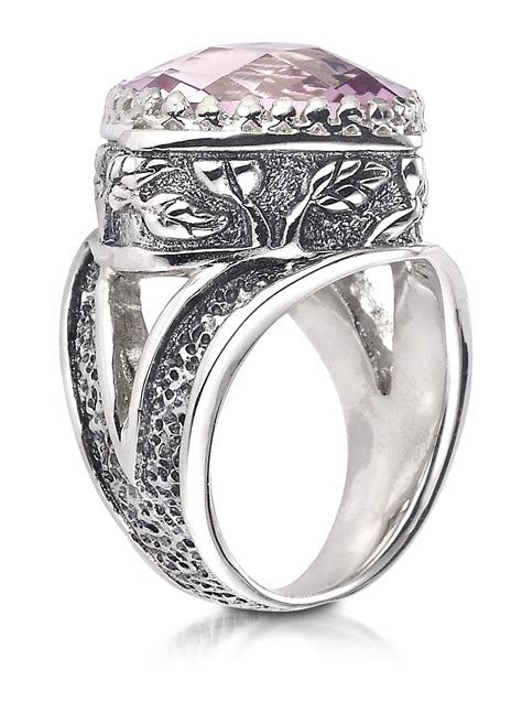 morganite topaz ring in sterling silver canada