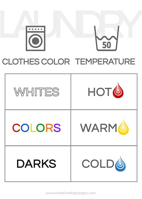 how to wash white clothes with color teach your how to do laundry free printable guide