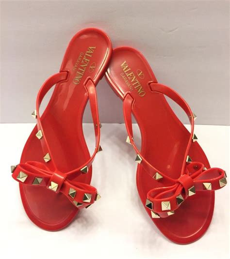Sale Jelly Shoes Size 36 Only valentino rockstud pvc jelly flip flop blush size 36 sandals on sale 26 sandals on sale