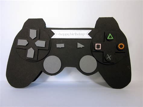 controller card template playstation controller punch card