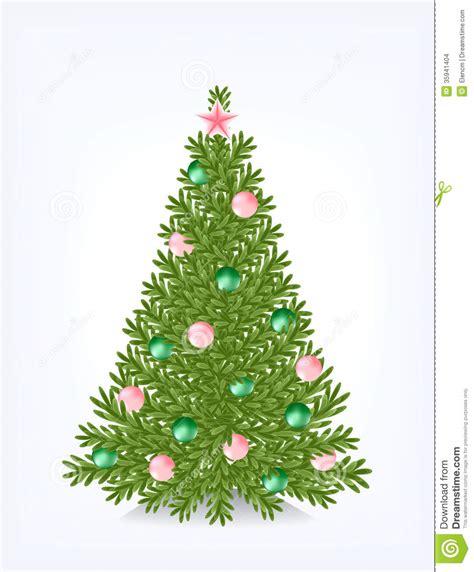 bushy christmas tree stock images image 35941404