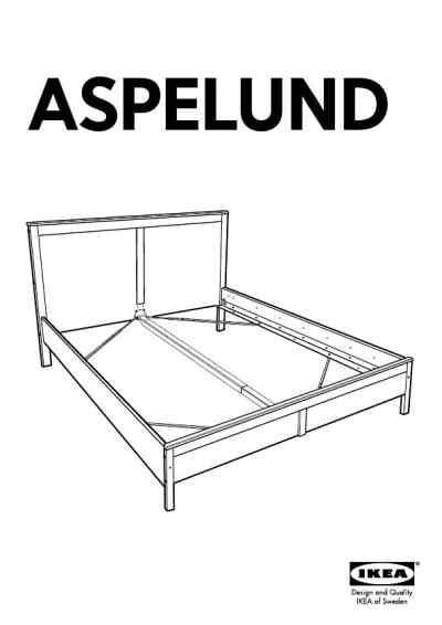 ikea skorva bed instructions ikea aspelund bed frame queen furniture download user