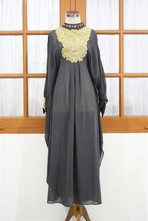 Real Pict Import Kaftan Batwing Dress moroccan caftan soft grey sheer chiffon fancy sequin arabic abaya dubai maxi dress caleopatra