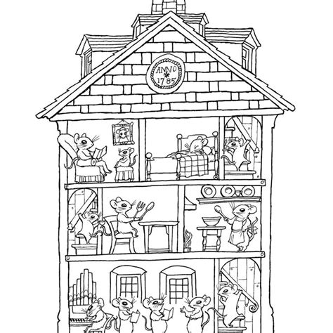 coloring pages of a doll house haunted house coloring pages google search coloring