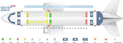 Airbus A380 Floor Plan by Seat Map Airbus A319 100 British Airways Best Seats In Plane
