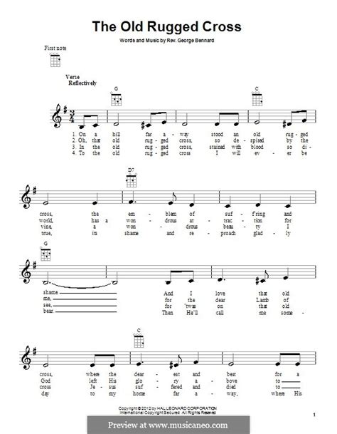the rugged cross piano sheet the rugged cross by g bennard sheet on musicaneo