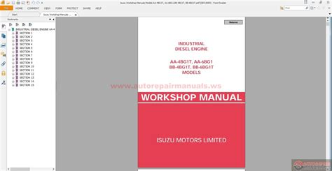 service manual free download of 2006 isuzu i series owners manual how fix replacement 2006 isuzu workshop manuals models aa 4bg1t aa 6bg1 bb 4bg1t