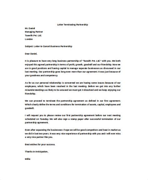 termination letter sle business partner termination letter sle business partner 28 images