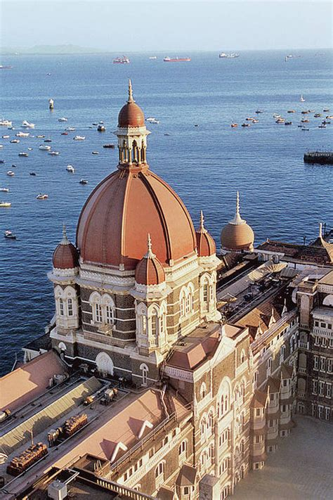 india maharashtra mumbai view  taj hotel poster
