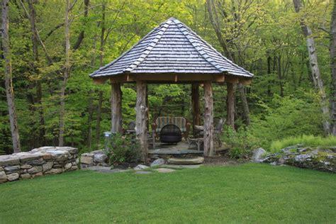 Meditation Bench Plans Natural Log Wood Gazebo