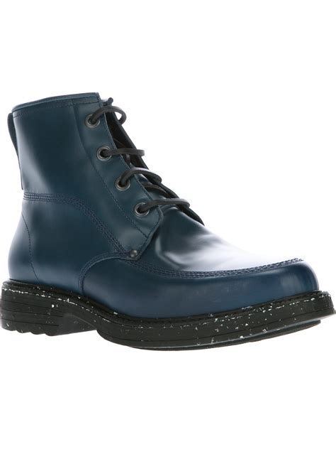 kenzo mens boots kenzo ronnie boot in blue for lyst