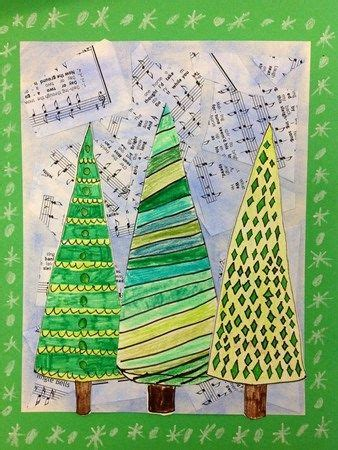 christmas art ideas for second grade class grandson s 2nd grade project i these trees 2nd grade projects