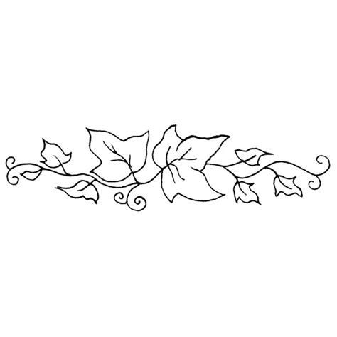 vine leaf coloring page personal impressions ivy border rubber st hobbycraft