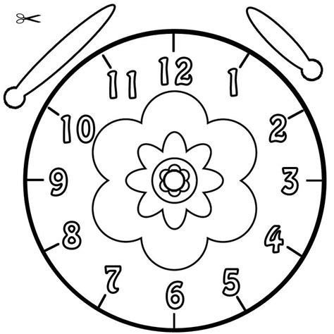 Kostenlose Vorlage Für Gutscheine Vorlage Uhr Blume 01 Bastelideen Ausmalbilder Blumen Ausmalbilder Und Uhren