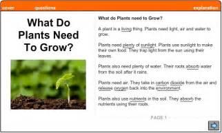 what do plants need to grow explanation english skills