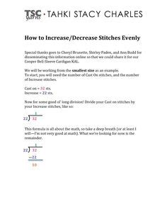 how to increase stitches evenly in knitting 1000 images about knit crochet tips tricks on