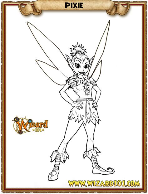 wizard 101 colouring pages picture