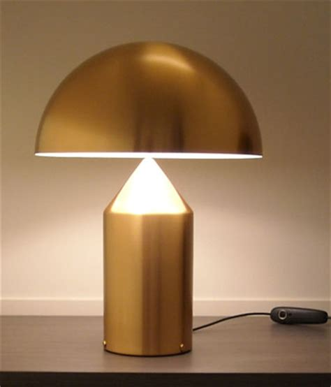 Vico Magistretti: Oluce Atollo 233 Gold Table Lamp: NOVA68.com