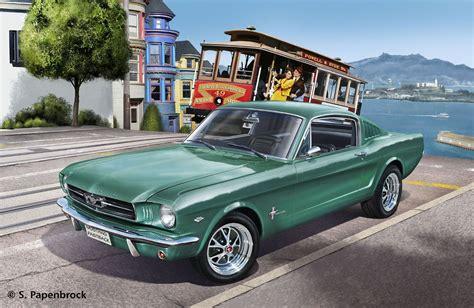 ford mustang model kit revell 07065 1965 ford mustang model kit maket araba 1 24