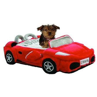 dog bed for car furrari sports car dog bed red novelty dog beds at glamourmutt com