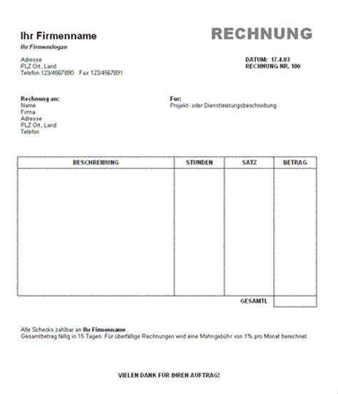Angebot Muster Openoffice 9 Rechnung Als Privatperson Vorlage Sponsorshipletterr