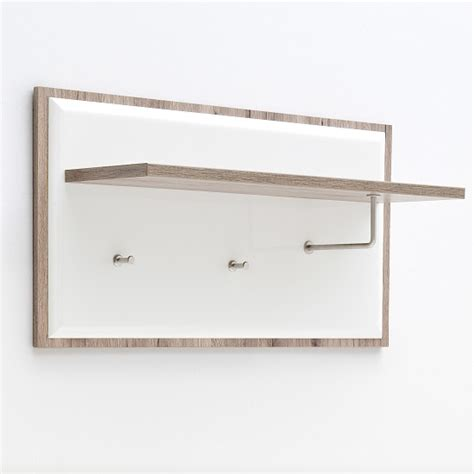 White Coat Rack Wall Mounted by Camino Wall Mounted Coat Rack In White Gloss Front And Oak