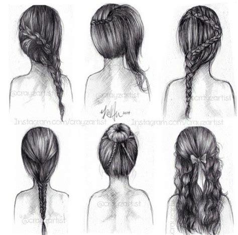 hairstyles for long hair drawing art back braid bun draw drawing drawings draws