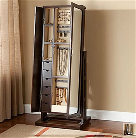 standing jewelry armoire with mirror oh me oh my standing mirror jewelry armoire