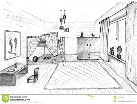 room sketch children s room graphical sketch stock images image