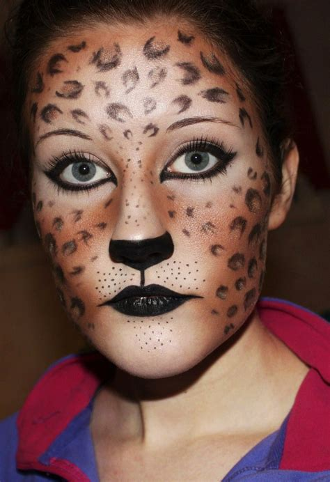 leopard makeup tutorial cheetah halloween makeup www imgkid com the image kid
