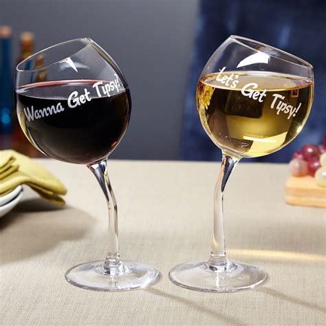 cool wine lets get tipsy wine glasses wine glass and gift
