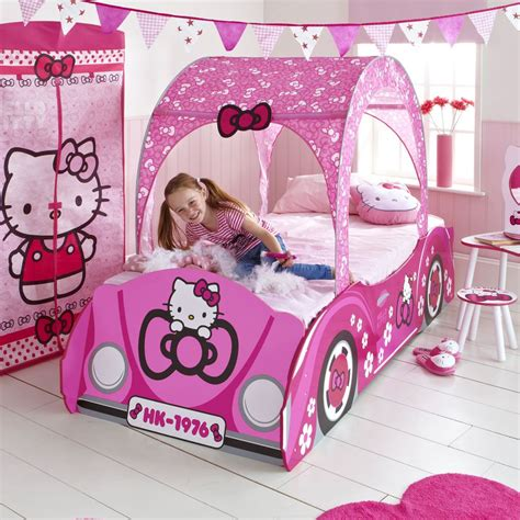 hello kitty bedroom game kids disney and character feature toddler beds new ebay